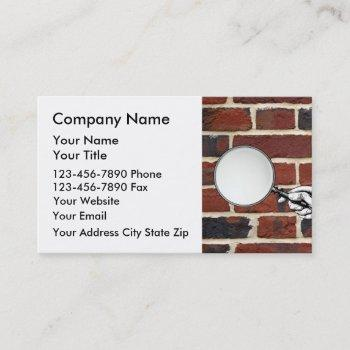 building inspector business cards