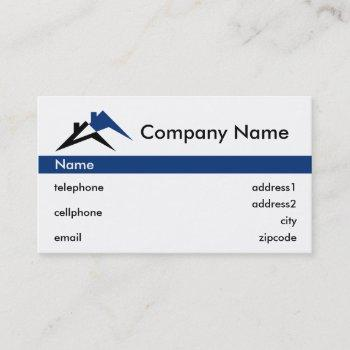 building or roofing business card design