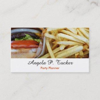 burgers n fries business card