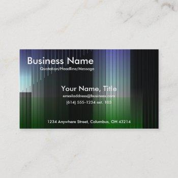 business blue & green stripes business cards