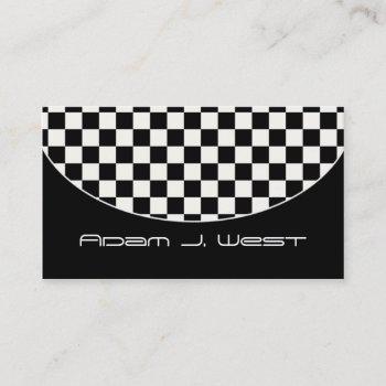 business card :: black & white checkered d2