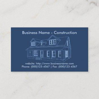 business card: construction business card