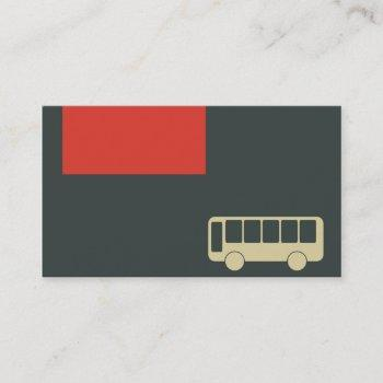 business card for public transportation and bus
