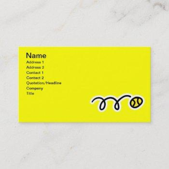 business card for tennis players
