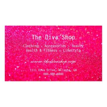 Small Business Card | Glitter Credit Card Pink Back View