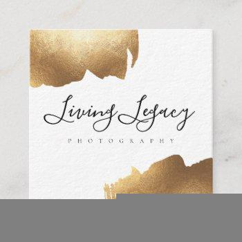 business card | gold brush minimalist