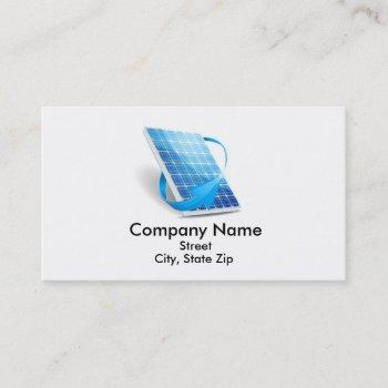 business card of solar panel company