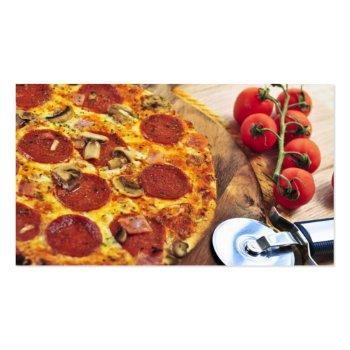 Small Business Card Pizza Restaurant Back View