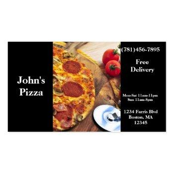 Small Business Card Pizza Restaurant Front View