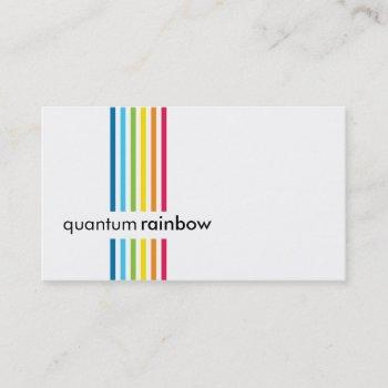 business card :: rainbowed stripe 1