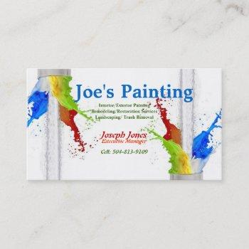 business card-sample (painting series revised) business card