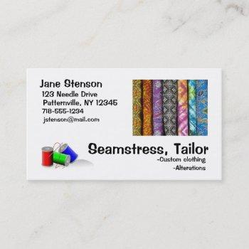 business card: seamstress, tailor business card