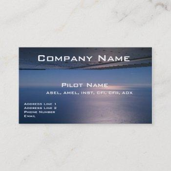 business cards for pilots and aviators