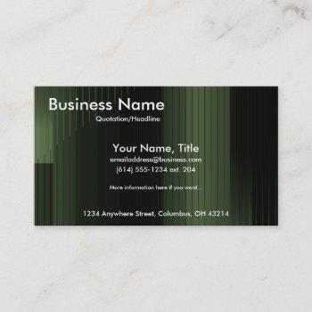 business green stripes business cards