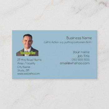 business monogram generic portrait name card