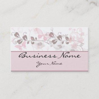 butterfly visions in pink and mauve business card