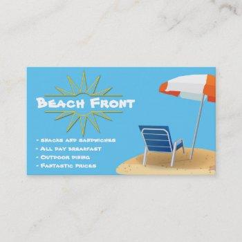 by the beach business card