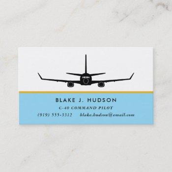 c-40 737 silhouette pilot business card