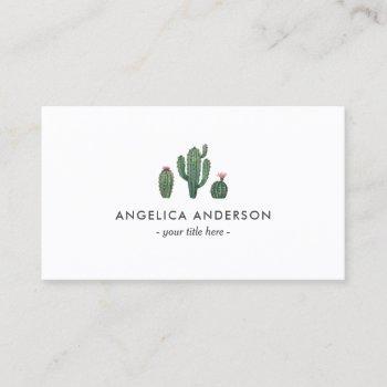 cactus plants business card