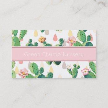 cactus print business card