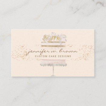cake floral bakery pastry patisserie business card