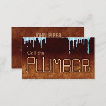 call the plumber business card