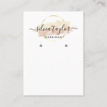 calligraphy art earring display card