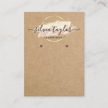 calligraphy craft paper earring display card
