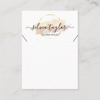 calligraphy craft paper necklace display card