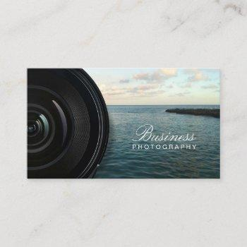 camera lens ocean landscape photography business card
