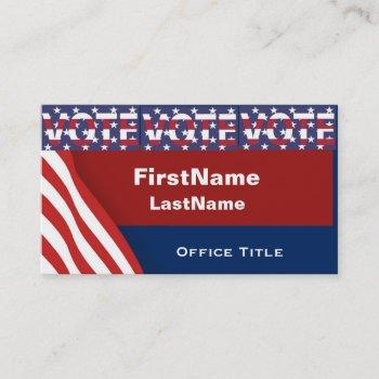 campaign template vote business card