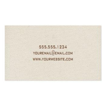 Small Canvas Graduation Name Card Insert Back View