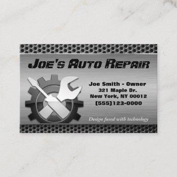 car auto mechanic engine repair service business card