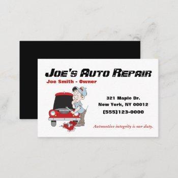 car auto mechanic repair motor service business card