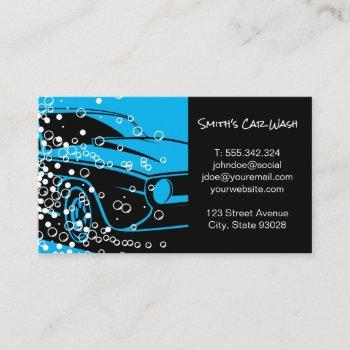 car wash | auto car detailing | cleaning service business card