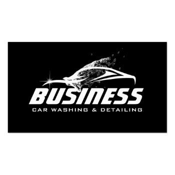 Small Car Washing Auto Detailing Automotive Business Card Front View