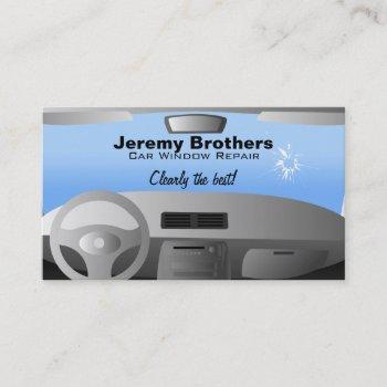 car window repair business cards