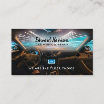 car window repair slogans business card