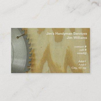 carbide tipped circular saw blade business card