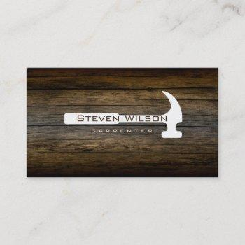 carpenter woodworker professional tool wood business card