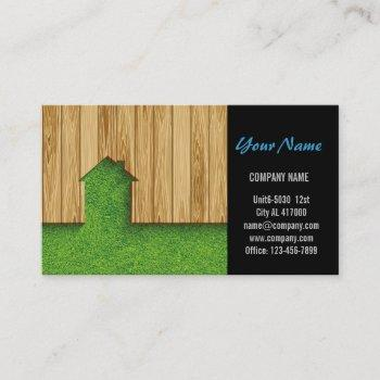 carpentry construction landscaping fencing business card