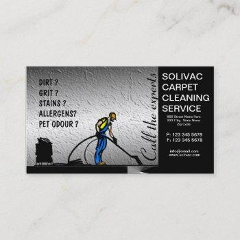 carpet cleaner carpet cleaning business card