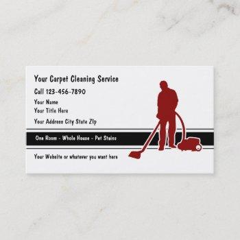 carpet floor cleaning business cards