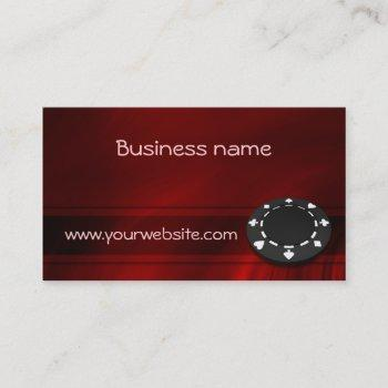 casino chip business card