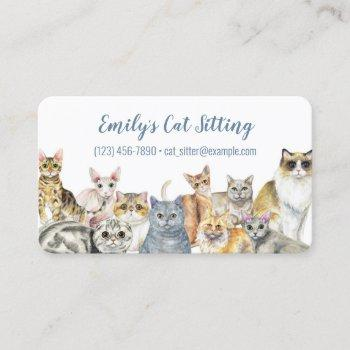 cat sitting business card