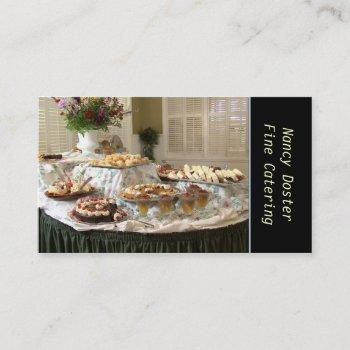 catering bakery business card