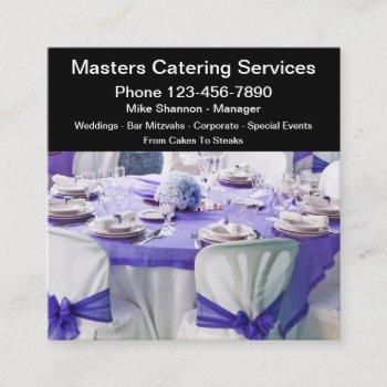 catering hall and services classy design square business card