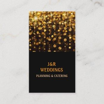 catering party wedding planner restaurant business card