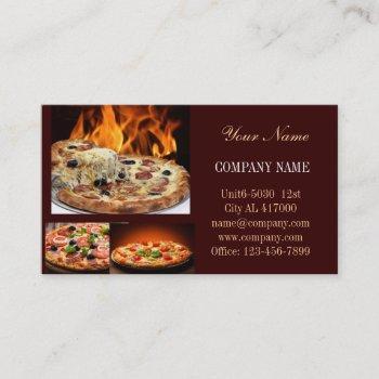 catering service deli shop italian food pizza business card