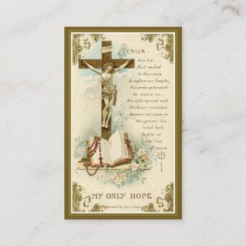 catholic funeral memorial crucifix holy card